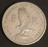 RARE - RHODESIE - RHODESIA AND NYASALAND - 2 SHILLINGS 1957 - Elizabeth II - KM 6 - Rhodésie