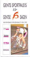 Brochure Dépliant Programma Wielrennen Cyclisme - Gentse 6 Dagen - Sportpaleis Gent - 1993 - Programmes