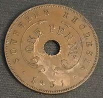 RHODESIE - SOUTHERN RHODESIA - 1 - ONE PENNY 1951 - George VI - KM 25 - Rhodesia