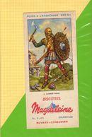 Buvard & Blotting Paper :Biscottes MAGDELEINE  2 Guerrier Franc - Zwieback