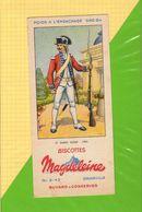 Buvard & Blotting Paper :Biscottes MAGDELEINE  12 Garde Suisse 1789 - Zwieback