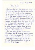 Lettre Manuscrite Tours 1978 Savoie Toret Le Mazot Les Vignes Villaz Pringy Enveloppes Timbre Effondrement Pont - Manuscrits