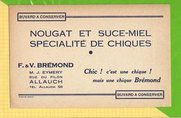 Buvard & Blotting Paper :  Nougat Et Sucre Miel BREMOND  Allauch - Süssigkeiten & Kuchen