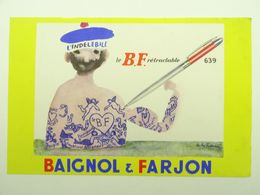 BUVARD BAIGNOL ET FARJON INDELEBILE BF RETRACTABLE - Papeterie