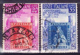 ITALIE YT  591/2 OBL (CANCEL.). (7C203) - 1946-.. République