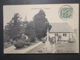14 - Bonneville Sur Touques - CPA - L'Eglise - 1907 - B.E - Autres Communes