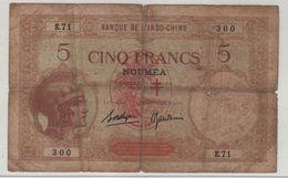 NEW HEBRIDES   5 Francs  *Overprint Nouvelle Hebrides*    P4b  (ND  Ca. 1941) French Colony - Sonstige