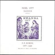 Rwanda 1977 Yvertn°  Bloc 80  *** MNH Cote 5,50 Euro Noël Christmas - Ruanda