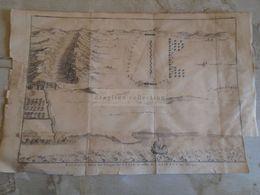 D172581   Carte Militaire - Roman Empire - Bataille Entre Les Troups De Cesar Et Labienus  - K.Theophil Guichard 1773 - Maps