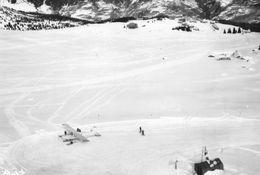 COURCHEVEL 1940 - Le Terrain D'Aviation De Pralong - Avion - Courchevel