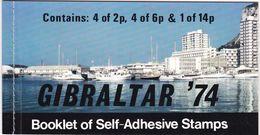 Gibraltar, 1974, 310 B/12 B Booklet MH 1, 100 Jahre Weltpostverein (UPU).  Used Oo - Gibraltar
