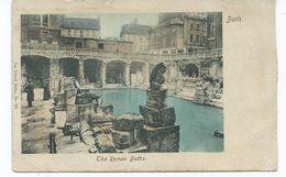 Postcard Somerset Bath Roman Baths With South Kensington  1 Squared Circle 1904 - Bath