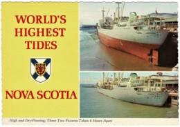 World's Highest Tides - Norwegian Carrier, Nova Scotia, Canada - Unused - Nova Scotia