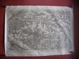 Carte SOISSONS Compiègne Villers Cotterets La Ferté Milon Braine Laversine Rethondes Taillefontaine Vauciennes 1834 - Documents