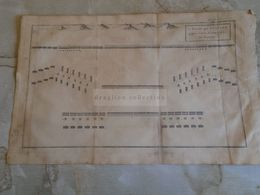 D172584 Old Military Map -Carte Militaire -Roman Empire -La Bataille -Scipion Contre Asdrubal - K.Theophil Guichard 1773 - Maps