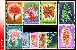 Rwanda 0148/57**  Fleurs MNH - Rwanda