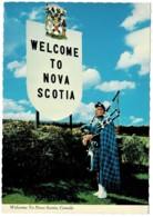 Welcome To Nova Scotia, Bagpipes, Canada - Unused - Nova Scotia