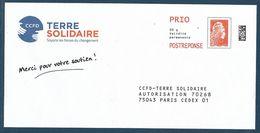 """Postréponse éco Marianne D'Yseult """"CCFD - Terre Solidaire"""" 75043 Paris Cedex 01, Au Dos 232193 - Pas De N° Intérieur - 2018-... Marianne L'Engagée"""