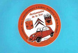 Autocollants : Association Collectionneurs D'Ardres  La 2 CV Citroen - Voitures