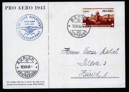 A6724) Schweiz Sonderkarte Pro Aero 1943 Von Bern 13.07.43 - Covers & Documents