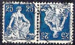 Schweiz Suisse HELVETIA 1909: ERSTER Kehrdruck 1er Tête-bêche Zu K1 Mi K3 Mit Voll-o BERN 18.III.14 (Zu CHF 325.00) - Tete Beche