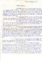 Lettre Manuscrite Oran 1973 Alerie Alger Bab El Oued Chatel Guyon Paris Cannes Clermont Ferrand Chatillon Larbi Tebessi - Manuscrits