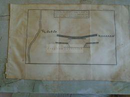 D172588 Old Military Map -Carte Militaire -Roman Empire - Position Des Deux Armées, - K.Theophil Guichard 1773 - Maps