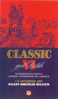 Brochure Dépliant Programma Uitnodiging 6° Int. Biennial Antiques , Art - Classic Goes Britisch - Hallen Kortrijk 1997 - Programmes