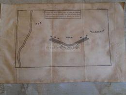 D172589 Old Military Map -Carte Militaire -Roman Empire - Position Des Deux Armées, - K.Theophil Guichard 1773 - Maps