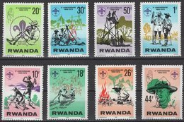 Rwanda Ruanda 1978 Yvertn°  851-858  *** MNH Cote 6,00 Euro  Padvinderij Scoutisme - Ruanda
