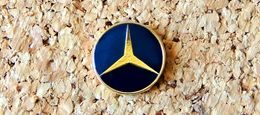 Pin's MERCEDES Logo Bleu Foncé Diamètre 15mm Verni époxy Fabricant Inconnu - Mercedes