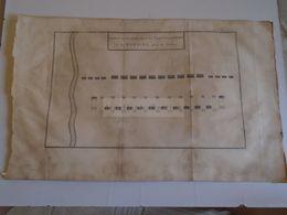 D172590 Old Military Map -Carte Militaire-Roman Empire -Combat De Cavalerie -Chartage Carthago-K.Theophil Guichard 1773 - Maps
