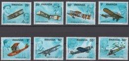 Rwanda Ruanda 1973 OCBn°  889-896  *** MNH Cote 4,50 Euro Avions Vliegtuigen Airplanes - Ruanda