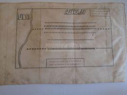 D172592 Old Military Map -Carte Militaire-Roman Empire- Bataille De CANNES  -K.Theophil Guichard 1773 - Maps