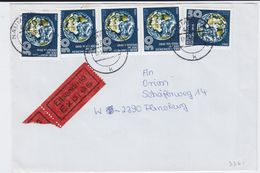 VGO DDR Mi 3361 Kosmos Erde (5) MeF Eil Bf Naumburg Saale 1990 - Cartas