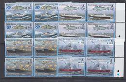 South Georgia & South Sandswich Islands 2008 Fishing 4v Bl Of 4 ** Mnh (48480A) - Géorgie Du Sud