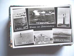 Nederland Holland Pays Bas Schiermonnikoog Met Reddingboot En - Gebouw - Schiermonnikoog