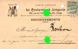 Liège Rue De L' Académie 1908 LE CONTENTIEUX LIÉGEOIS  Carte Correspondance - Liege