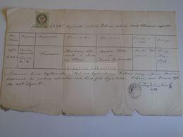 D172593 Old Document - Sibiu Nagyszeben Hermannstadt - Susanna Szlaminko Klein - 1834-1870 - Cibinii, Theophilus Nosak - Nacimiento & Bautizo