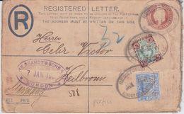 GB R Ganzsache ZF Perfin Filo Firmenlochung RAuslBf London 1907 - Storia Postale
