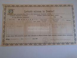 D172594 Old Document - SLOVAKIA  Káposztafalva, Hrabušice,  Kabsdorf  Jos. Raab  1884 - Nacimiento & Bautizo