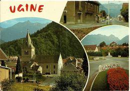 73  UGINE  Multivues Cpm Voyagée En 1984 Cachet De La Poste ALBERTVILLE  Editions J CELLARD - Ugine