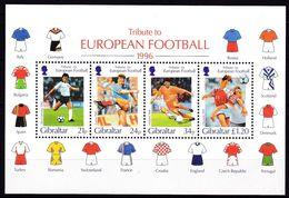 Gibraltar, 1996, 759/62C Block 25, MNH **, Fußball-Europameisterschaft, England. - Gibraltar