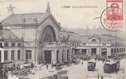 BELGIQUE 1914  CARTE POSTALE DE LIEGE  GARE DES GUILLEMINS - Lüttich