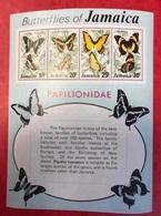 JAMAÏQUE 1975 BLOC NEUF  ** MNH YT BF7 Mi Bl 8 - Farfalle Papillons Butterflies Mariposas Schmetterlinge JAMAÏCAIN - Butterflies
