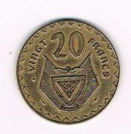 )  RWANDA  20 FRANCS 1977 - Rwanda
