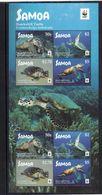 SAMOA  Timbres Neufs ** De 2016  ( Ref 6976 ) Tortues Marines  2 Séries En Feuillet - WWF - Samoa