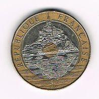 ) FRANKRIJK 20  FRANCS  MONT ST. MICHEL 1992 - France