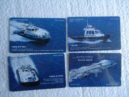 KOREA  SET 4  BOATS SHIPS - Bateaux