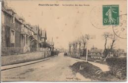 76 POURVILLE-sur-MER  Le Carrefour Des Deux Routes - Autres Communes